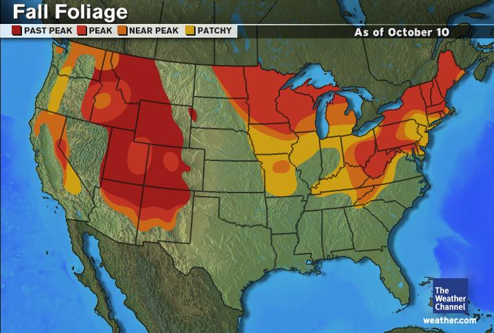 Fall Foliage Maps Pagosa Springs Journal - Us fall color map