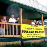 MC Roy Vega moved the event along with prizes and offering duck sales.
