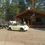 The Sportsman's Campground is the center of civilization for the Upper Piedra community and became the defacto information center for residents and people traveling to see the smoke.