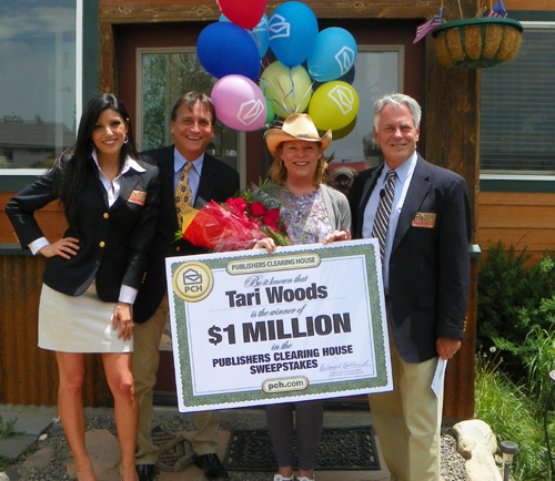won one million dollars Thursday from Publisher's Clearing House