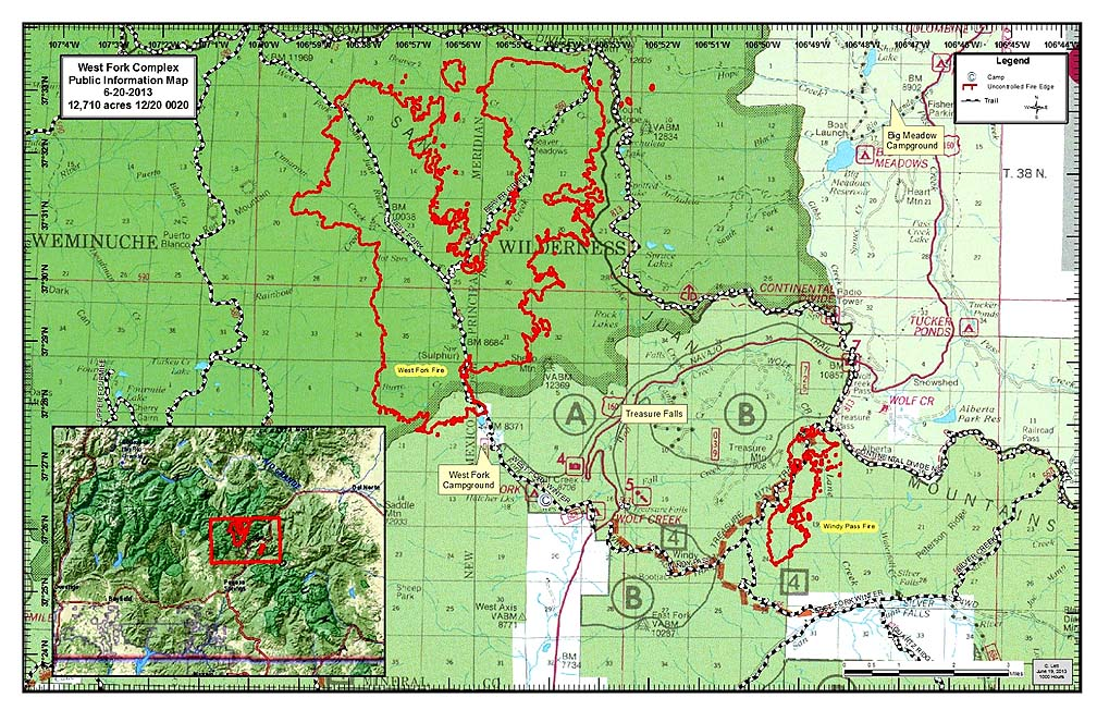 Latest Fire Map & Update for Pagosa Springs, Co. | Pagosa Springs ...