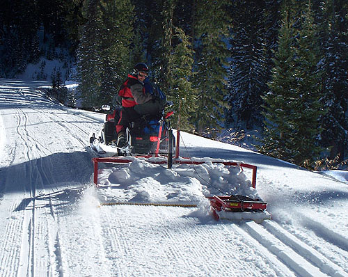 Nordic / Cross Country Trail Groomers - Snow Grooming ...  Cross Country Ski Trail Grooming
